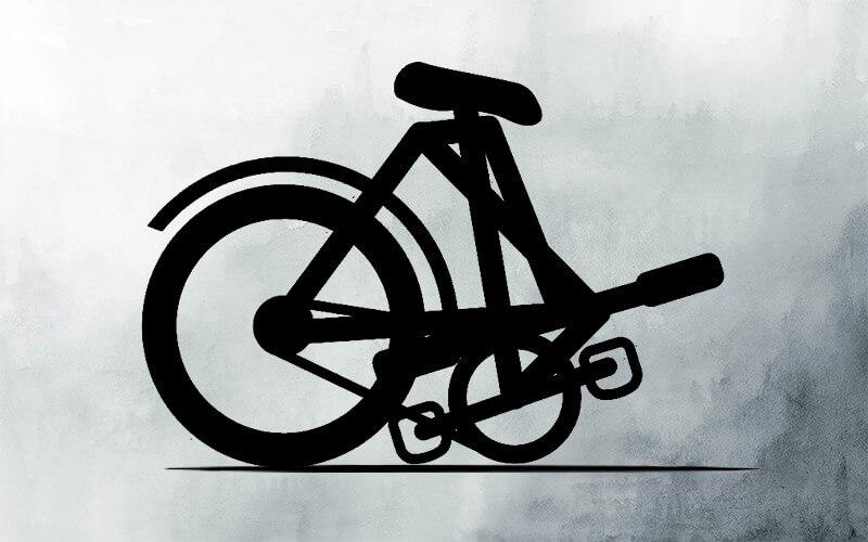 Folding Bike Illustration